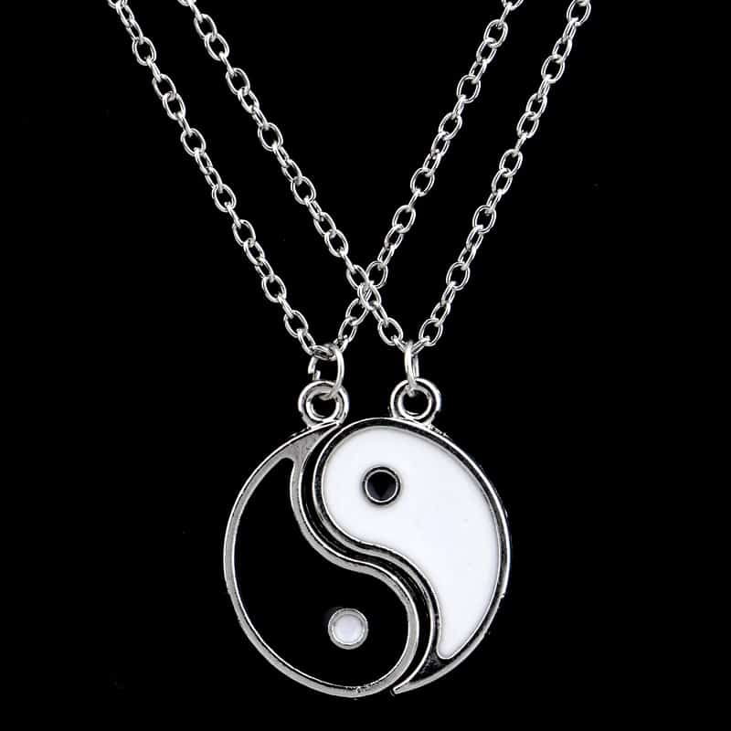 Paired Items For Couples: Yin Yang Necklace Couple Accessory